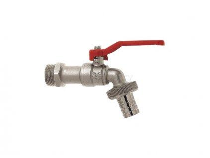 Zahradní kulový ventil - červený