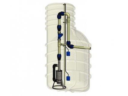 Classic set pro tlakovou kanalizaci Pumpa INOX Morava 5-16-T 1,1kW 400V