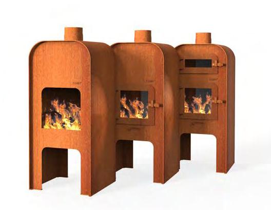 Venkovní kovové krby, grily, kamna a ohniště na dřevo