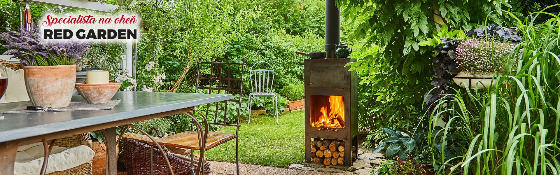 Zahradní krb - kamna - ohniště REDGARDEN