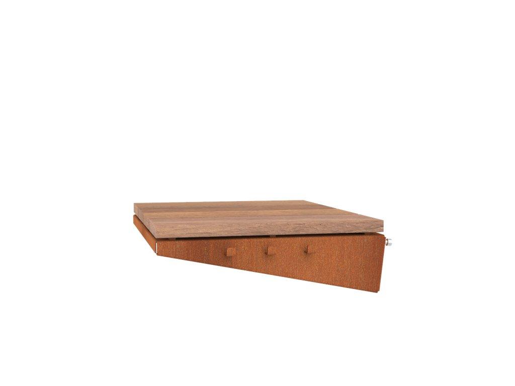 Přídavná boční deska pro produkt Forno Cooking BFC10 DAMM - opatřená povrchem ze dřeva