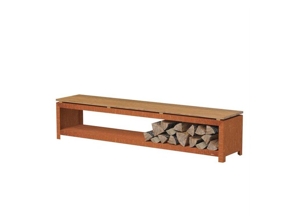 Lavička se zásobníkem na dřevo - FORNO BHS2H