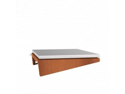 Přídavná boční deska pro produkt Forno Cooking BFC10 DAMM - opatřená ocelí z nerezu