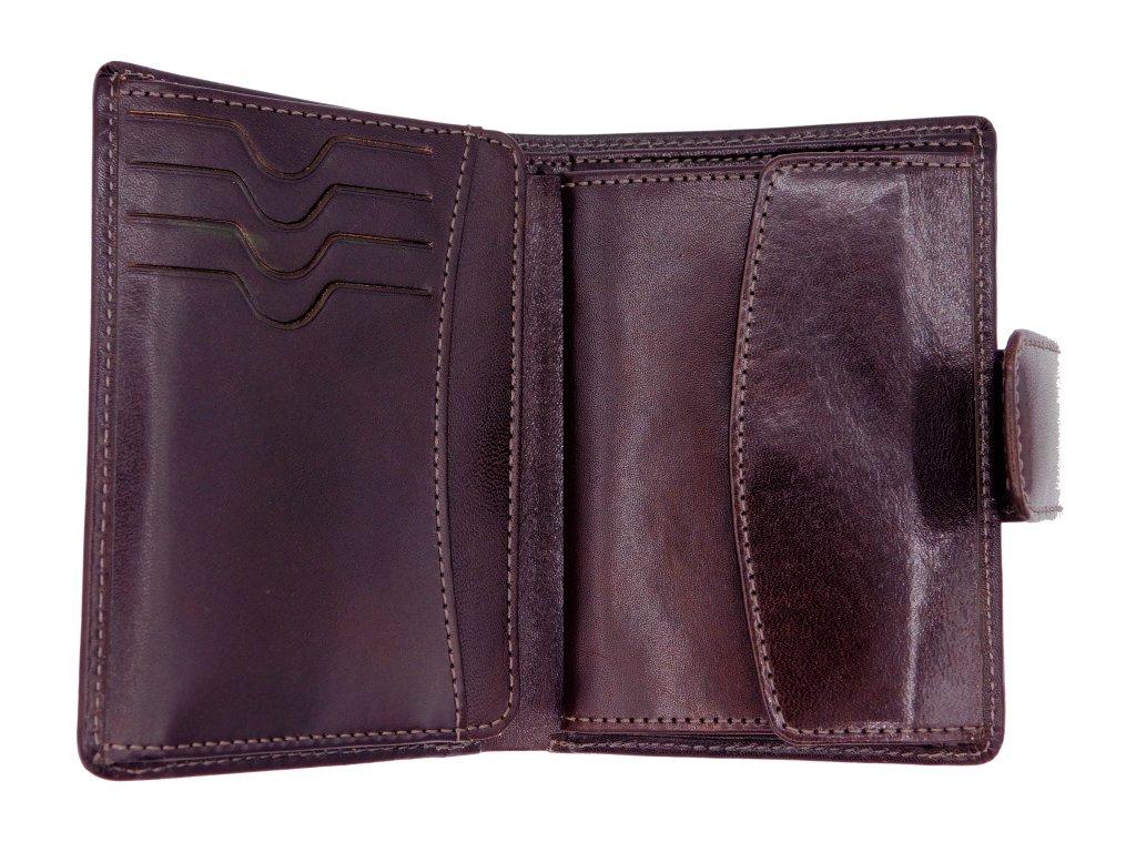 Kožená peněženka unisex Label hnědá  29e8063a9c0