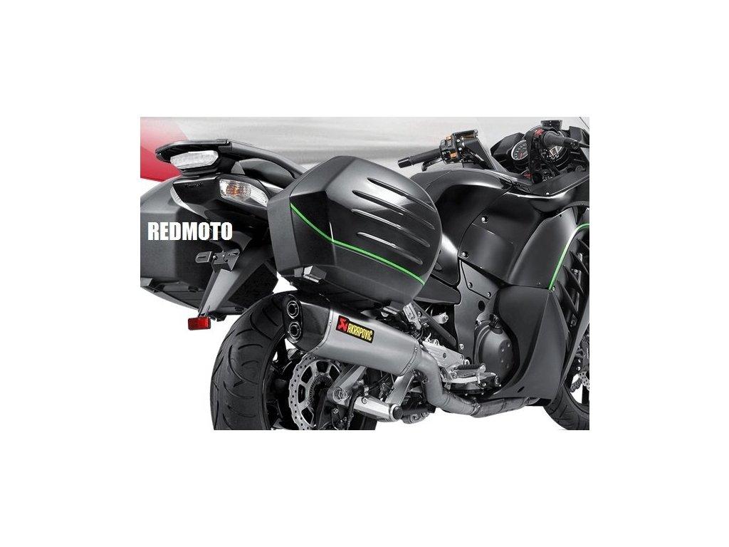 Výfuk Akrapovič TITAN HEXAGON DUAL EXIT / S-K14SO5-HZAAT / Kawasaki GTR 1400 (08-17)