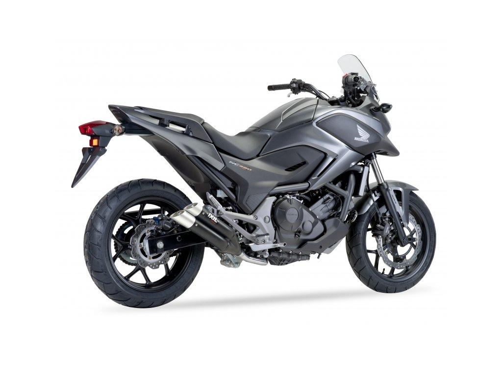 Výfuk IXIL DUAL HYPERLOW XL BLACK / XH6362XB / Honda NC 700 X - S - Integra - DCT - ABS (12-13) / Honda NC 750 X - S - Integra - DCT - ABS (14-20)
