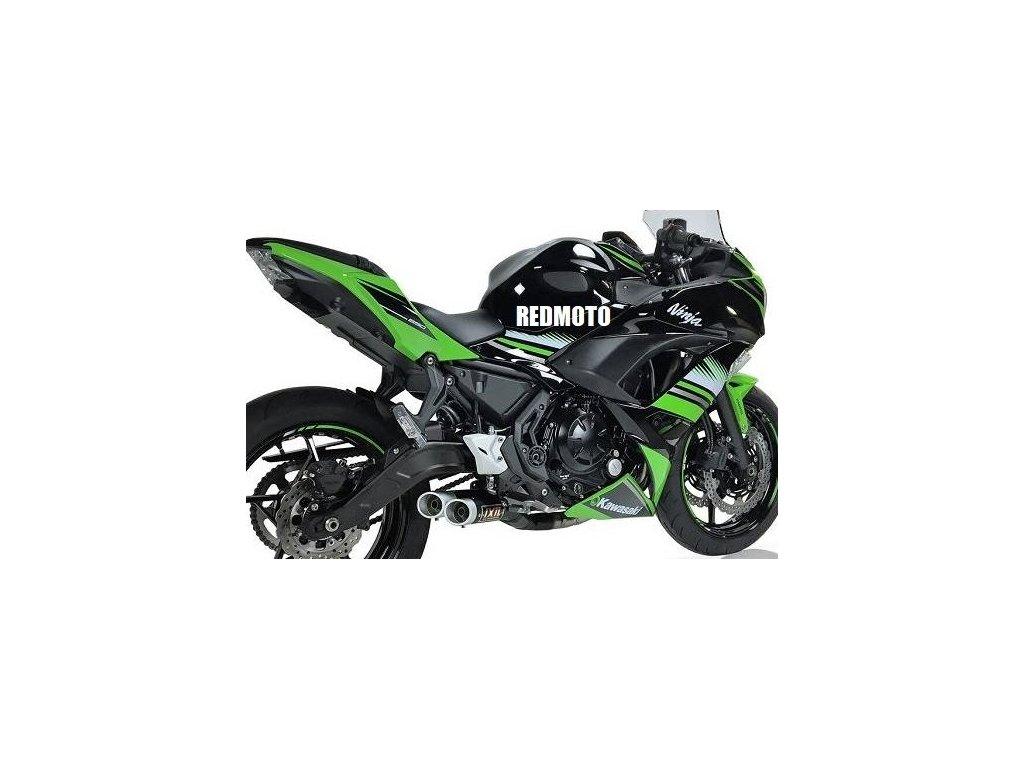 Výfuk IXIL DUAL HYPERLOW XL BLACK / Kawasaki Ninja 650 (17-19) / Kawasaki Z650 (17-19)