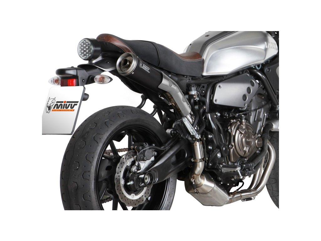 Výfuk MIVV Ghibli BLACK / Yamaha XSR 700 (16-20)