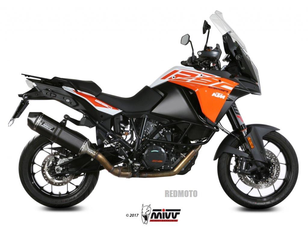 Výfuk MIVV Speed Edge Inox BLACK / KTM 1050 Adventure (15-16) / KTM 1090 Adventure / R (17-20) / KTM 1190 Adventure / R (13-16) / KTM 1290 Super Adventure / R / S / T (15-20)