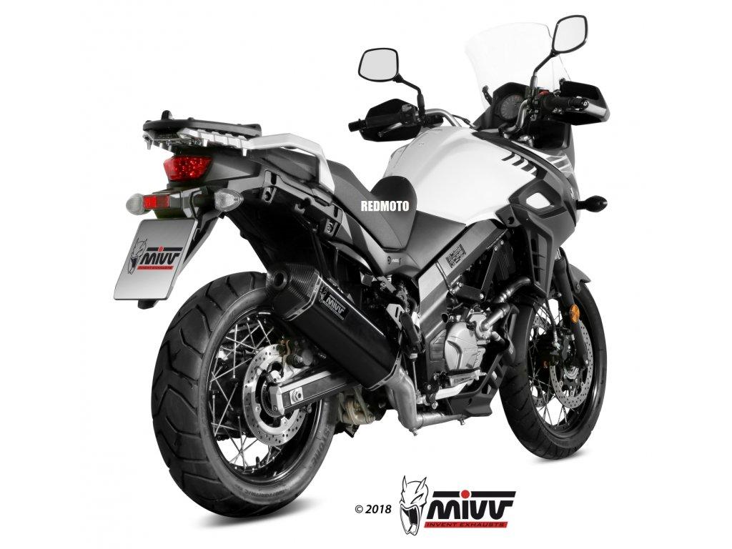 Výfuk MIVV Speed Edge BLACK / Suzuki DL 650 V-Strom (17-21)