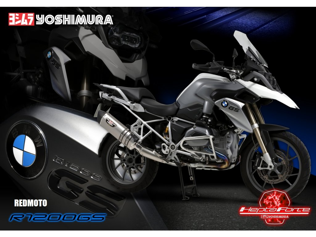 Výfuk YOSHIMURA Hepta Force / BMW R 1200 GS / Adventure (13-16)