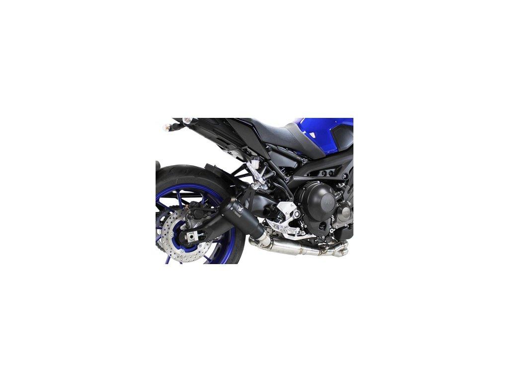 Výfuk IXRACE MK2 INOX BLACK / Yamaha MT-09 (14-20) / Yamaha XSR 900 (16-20)