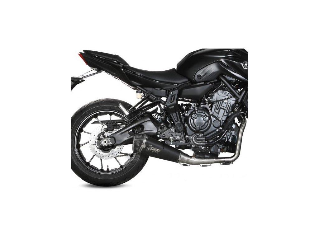 Výfuk MIVV Delta Race Inox BLACK / spodní vedení / Yamaha MT-07 (14-20)