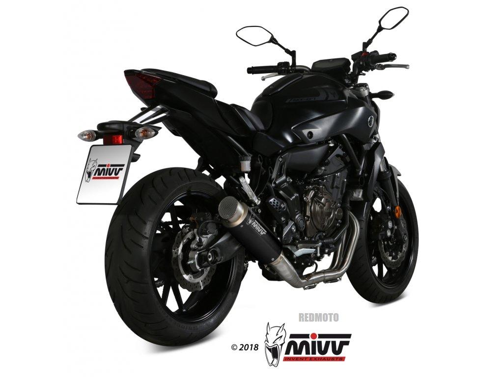 Výfuk MIVV GP PRO BLACK / Yamaha MT-07 (14-20)