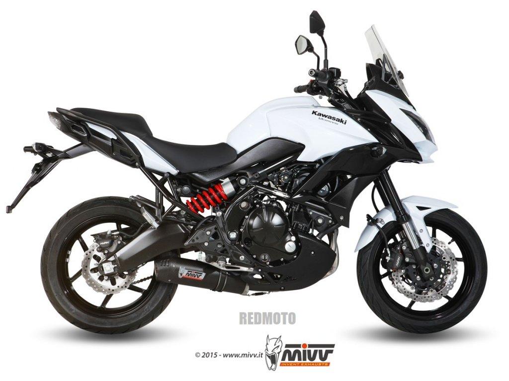 Výfuk MIVV Karbon Ovál / Titan Ovál - Kawasaki Versys 650 (15-16)