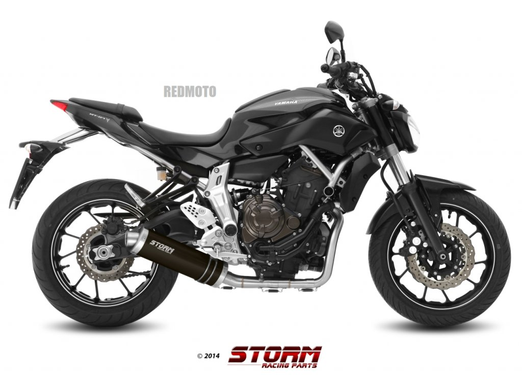 Výfuk MIVV STORM OVÁL INOX NERO BLACK / Yamaha MT-07 (14-19)