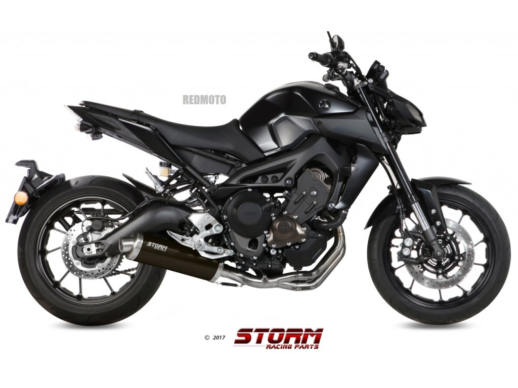 Výfuk MIVV STORM Ovál BLACK Inox Nero / Yamaha MT-09 (14-20)