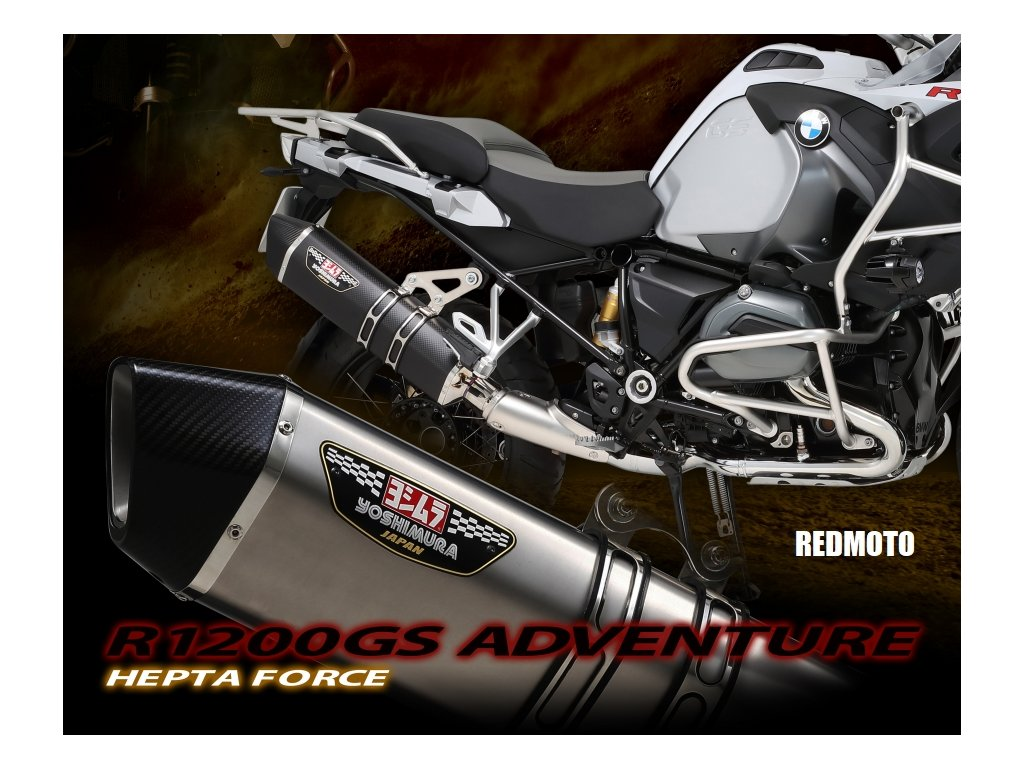 Výfuk YOSHIMURA HEPTA FORCE Satin Finish / BMW R 1200 GS / Adventure (17-18)