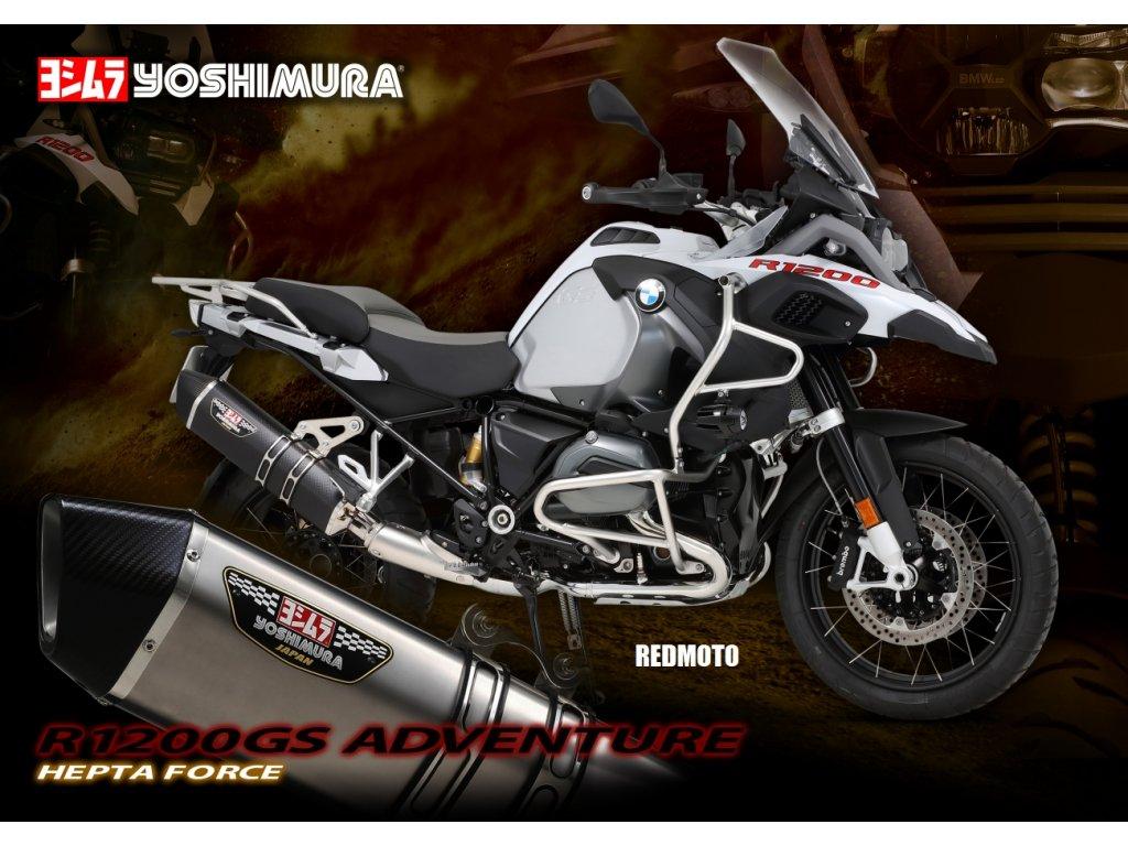 Výfuk YOSHIMURA HEPTA FORCE Metal Magic / BMW R 1200 GS / Adventure (17-18)