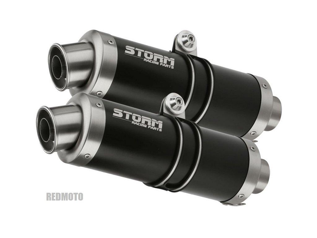 Výfuky MIVV STORM GP BLACK INOX NERO / KTM 950 SM Supermoto / R (05-08) / KTM 990 SM Supermoto / R / (07-13)