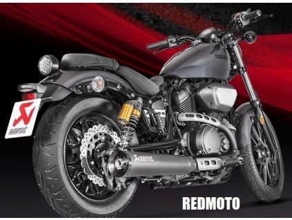 Výfuk Akrapovič CONICAL BLACK / S-Y9SO4-HBBOSSBL / Yamaha XV 950 (17-19) / Yamaha XV 950R (17-19) / Yamaha SCR 950 (17-19)