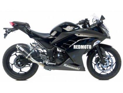 Výfuk Leo Vince GP Corsa Carbon / Kawasaki Z250 (15-16) / Kawasaki Ninja 250R (13-16) / Kawasaki Z300 / ABS (15-16) / Kawasaki Ninja 300R / ABS (13-16)