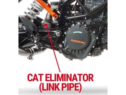 Leo Vince svod odstranění katalyzátoru / KTM Duke 125 (17-18) / KTM RC 125 (17-18) / KTM Duke 390 (17-18) / KTM RC 390 (17-18)