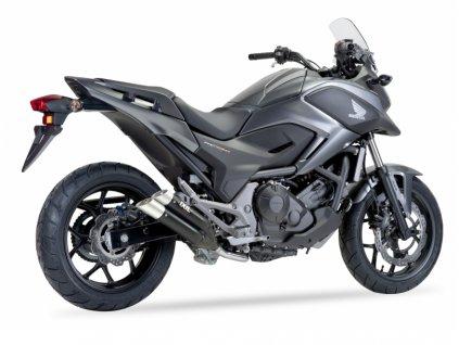 Výfuk IXIL DUAL HYPERLOW XL BLACK / XH6362XB / Honda NC 700 X - S - Integra - DCT - ABS (12-13) / Honda NC 750 X - S - Integra - DCT - ABS (14-18)
