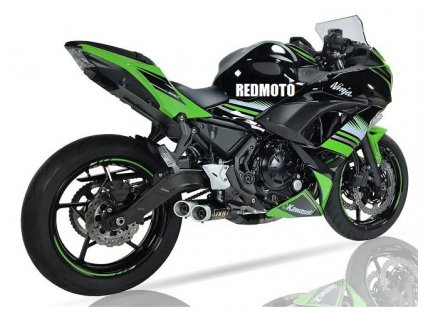 Výfuk IXIL DUAL HYPERLOW XL BLACK / Kawasaki Ninja 650 (17-18) / Kawasaki Z650 (17-18)