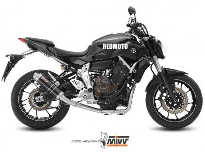 Výfuk MIVV GP Black / Y.045.LXB / Yamaha MT-07 a FZ-07 (14-18)