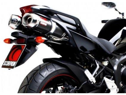 Výfuky Scorpion CARBON FACTORY ROUND / Yamaha FZ6 S2 (07-11)