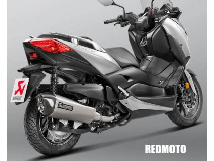 Výfuk Akrapovič DUAL EXIT HEXAGON / S-Y4SO16-HRAASS / Yamaha X Max 400 17-18