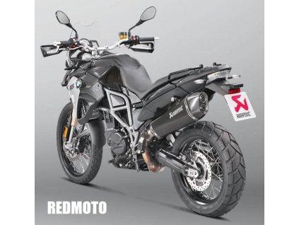 Výfuk Akrapovič Titan Hexagon BLACK / S-B8SO6-HZAABL / BMW F 700 GS (17) / BMW F 800 GS (17)