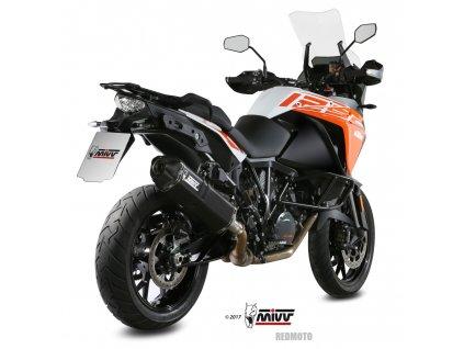 Výfuk MIVV Speed Edge Inox BLACK / KTM 1050 Adventure (15-16) / KTM 1090 Adventure / R (17-19) / KTM 1190 Adventure / R (13-16) / KTM 1290 Super Adventure / R / S / T (15-19)