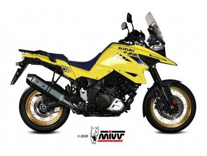 Výfuk MIVV Speed Edge Hexagon BLACK / Suzuki DL V-STROM 1000 / XT (14-19) / DL V-STROM 1050 / XT (20-21)
