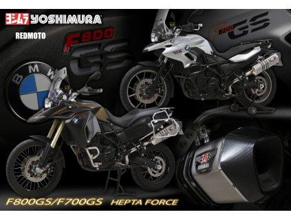 Výfuk Yoshimura Hepta Force / BMW F 700 GS (13-16) / BMW F 800 GS (08-16)