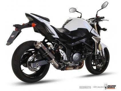 Výfuk MIVV GP BLACK STEEL / Suzuki GSR 750 (11-16)