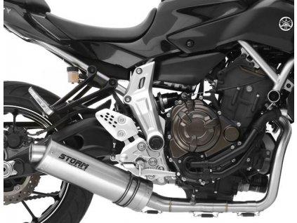 Výfuk MIVV STORM OVÁL INOX / Yamaha MT-07 (14-20)