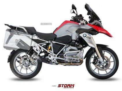 Výfuk MIVV STORM Ovál BLACK Inox Nero / BMW R 1200 GS / Adventure (13-18)