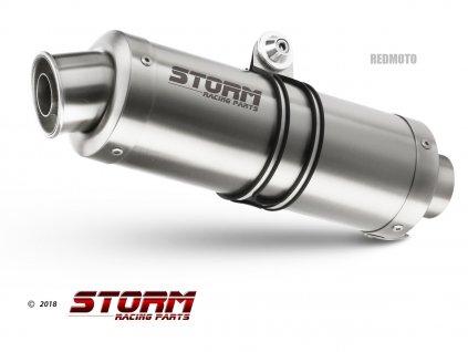 Výfuky MIVV STORM GP INOX / KTM 950 SM Supermoto / R (05-08) / KTM 990 SM Supermoto / R / (07-13)