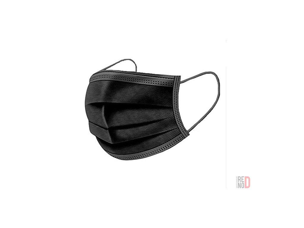 Jednorazové ochranné rúško 3-vrstvové čierne