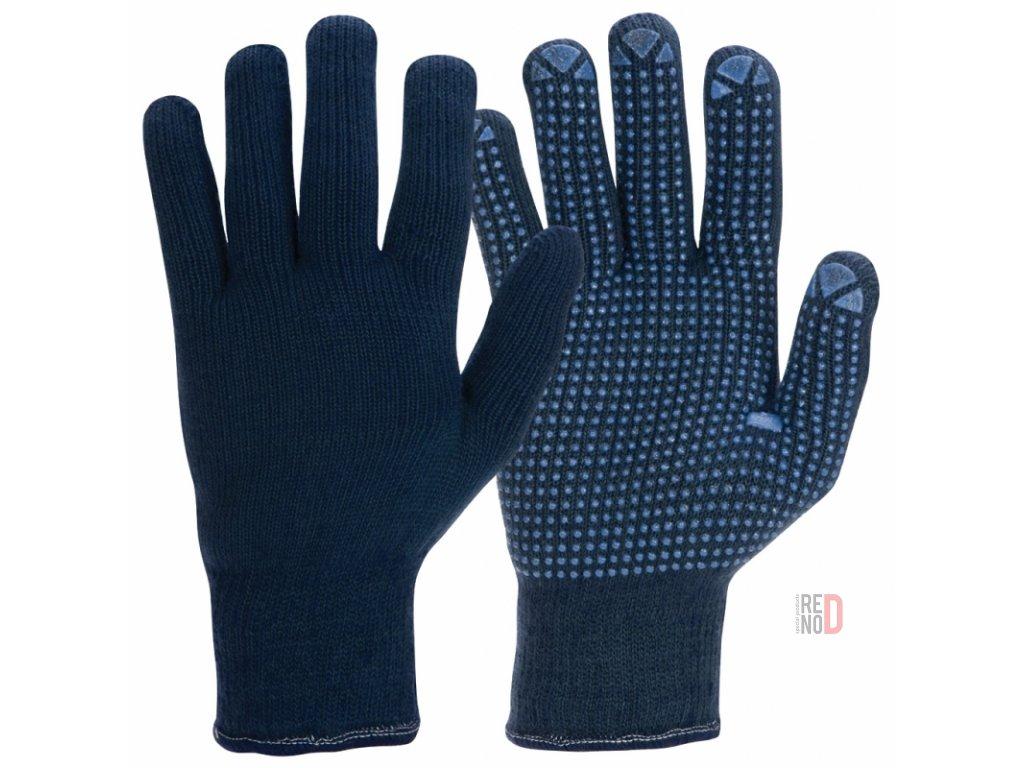 Rukavice pletené modré