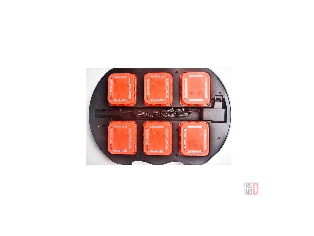 Sada signalizačných LED diskov so synchronizáciou blikania