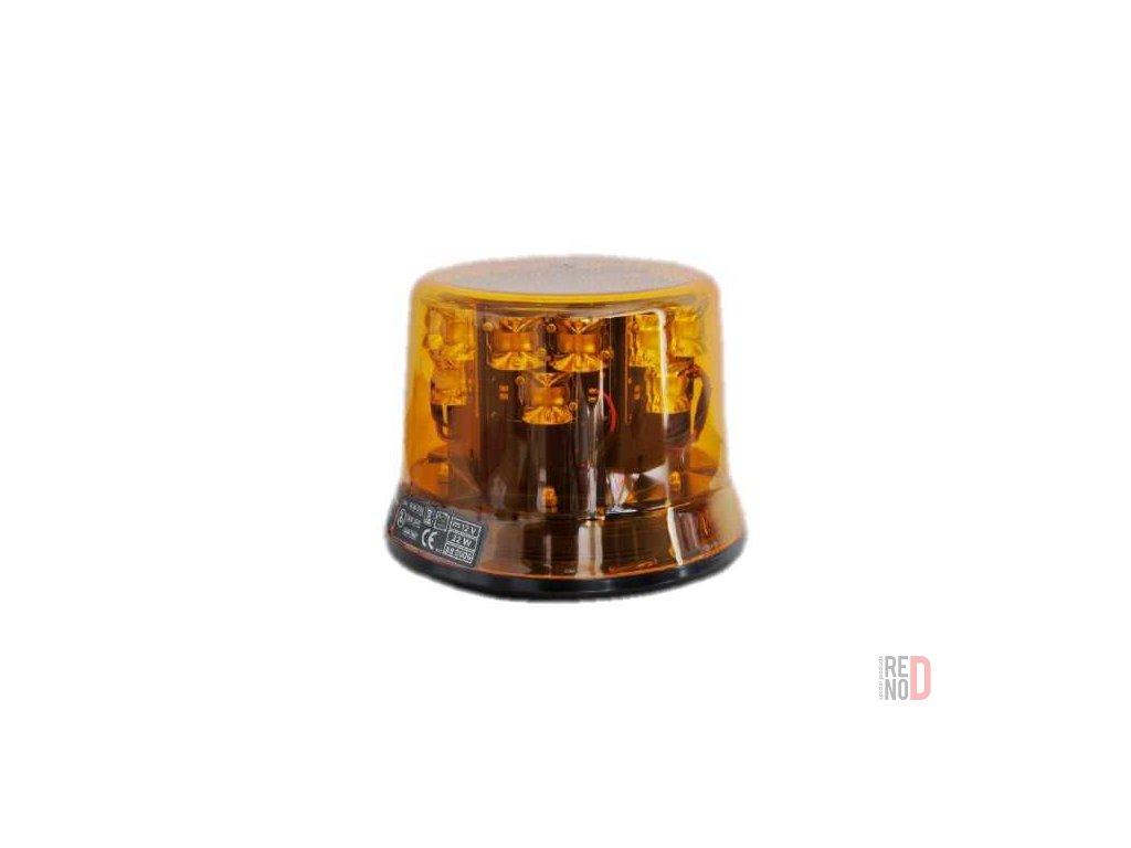 Vystrazny majak LED oranzovy 12V magneticke uchytenie