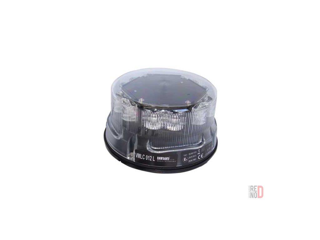 Vystrazny majak LED oranzovy 12V pevna montaz 12 diod
