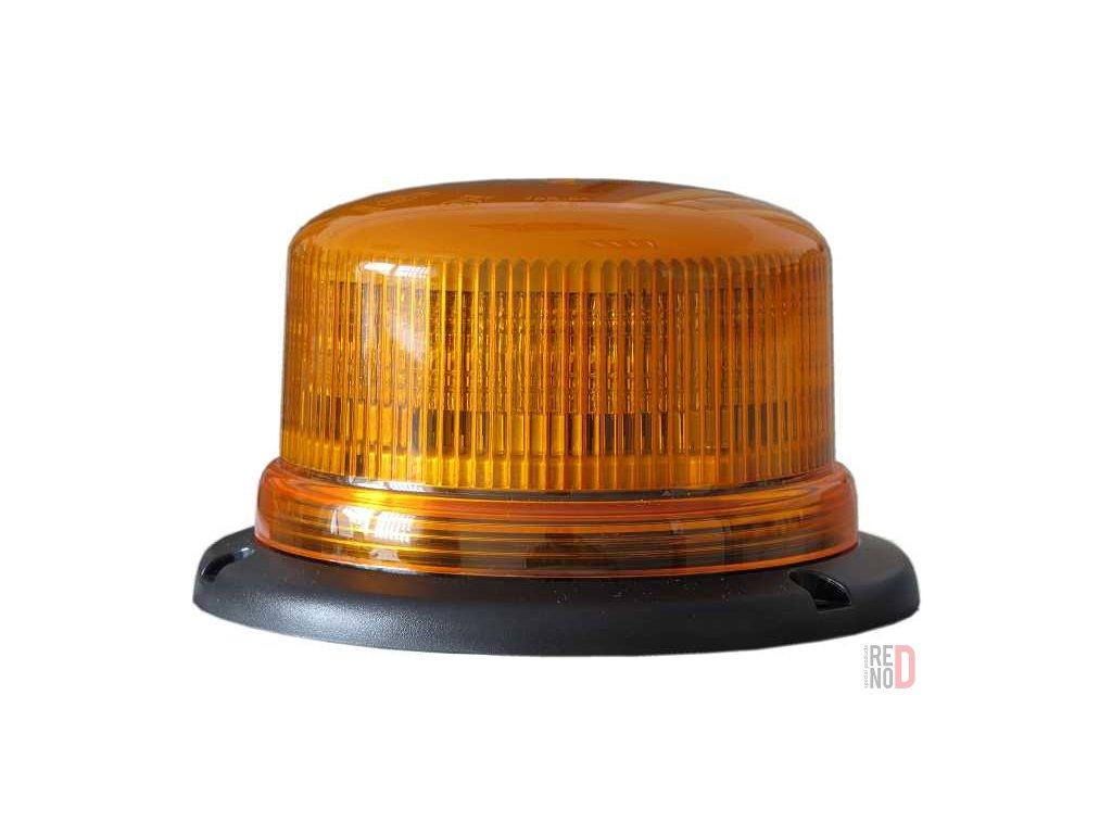 Majak LED 12 24V pevna montaz oranzovy