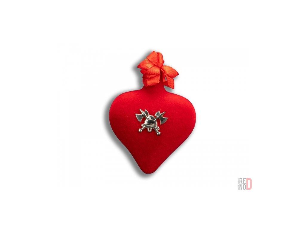 Prívesok sklenené srdce HASIČI