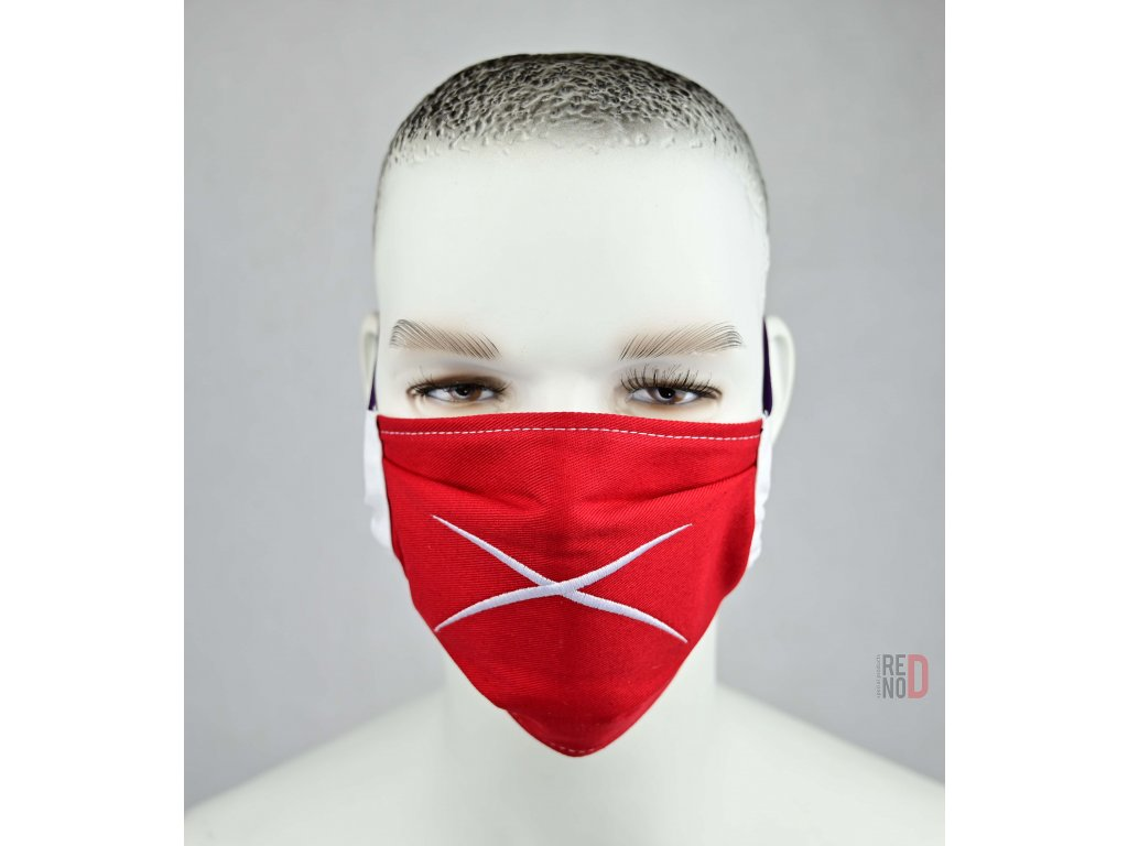 Ochranné bavlnené rúško Revolution X Plus RED