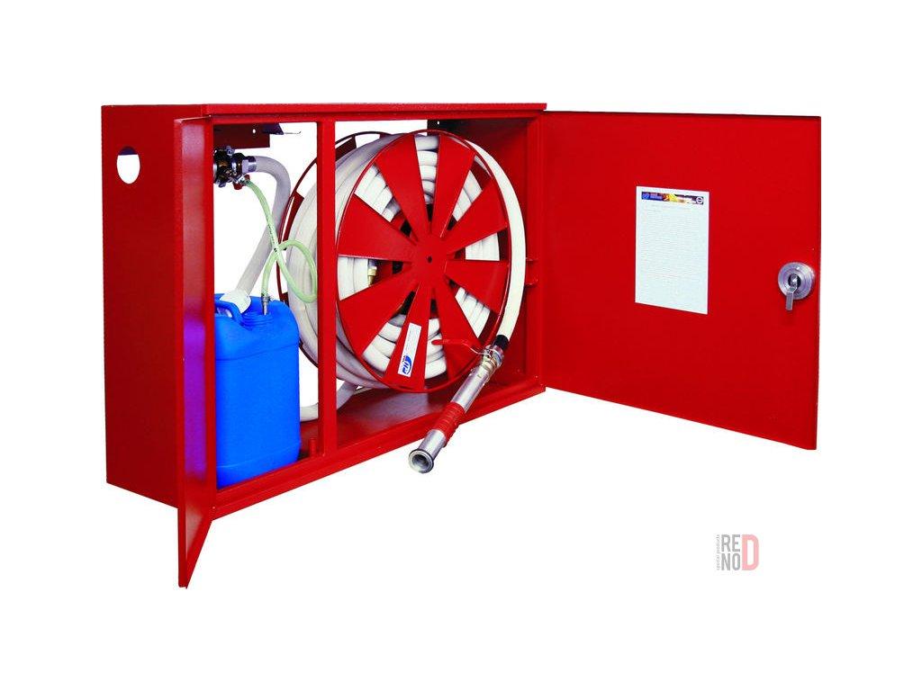 Hydrant penotvorný s tvarovo stálou hadicou D33