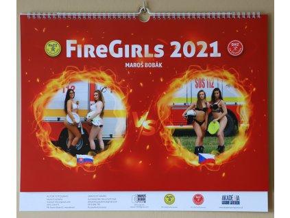 Nástenný hasičský kalendár FIRE GIRLS 2021